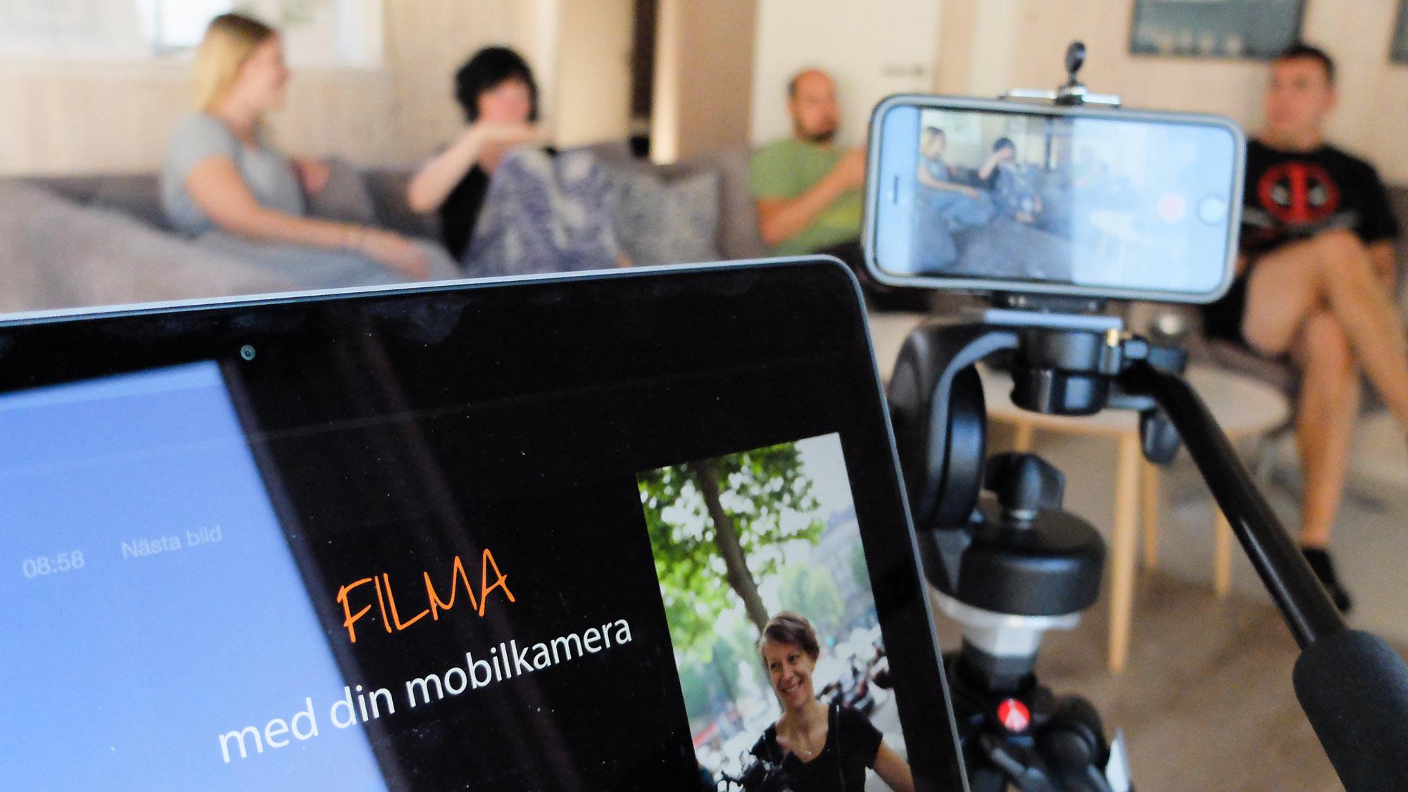 Filma med mobilkameran