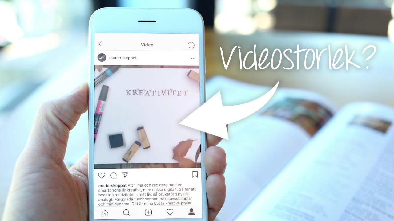 Videostorlek på sociala medier